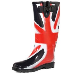 Dorothy Perkins Union Jack wellies. $39
