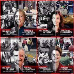 Ditadura no (…) dos outros é democracia. A imagem e o vídeo do cinismo de Dilma, Mujica, Kirchner e Bachelet