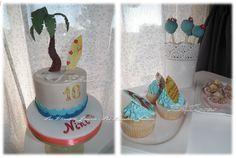 Bolo Aloha, cupcakes, brigadeiros e cakepops