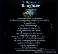 Dearest Daughter in Heaven