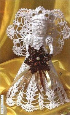 As Receitas de Crochê: Gráficos de anjos de crochê