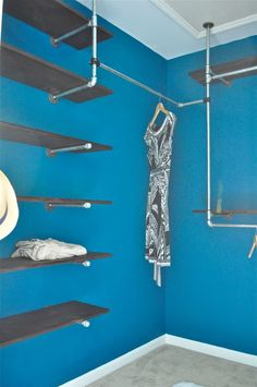 How To Build An Industrial Chic Closet Organizer out of Plumbing Pipes | Domestiphobia