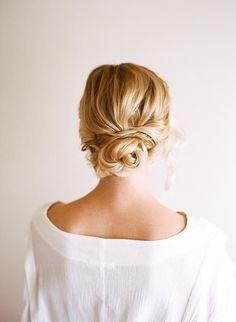 Bridal updo chignon