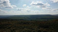 Looking down from Oxenhope moor