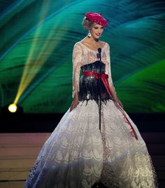 This one is lovely as well. Miss France at the Miss Universe 2015 National Costume Contest.