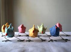 Reciclagem, Jardinagem e Decoração: Primavera: Pássaros