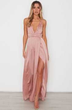 "<p><strong style=""font-family: arial, helvetica, sans-serif;"">Description</strong><br /><span style=""font-family: arial, helvetica, sans-serif; font-size: small;"">- Satin Look Maxi Dress</span><br /><span style=""font-family: arial, helvetica, sans-serif; font-size: small;"">- Halter Neck Straps that Wrap Around Waist</span><br /><span style=""font-f..."