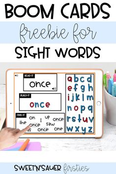 Are you looking for a fun, interactive way for your students to practice sight words? Try this FREE, no-prep digital resource! I have created this set of Boom cards perfect for any preschool, kindergarten, or first grade classroom! Your students will be reading, building, and finding sight words in this fun, digital activity!