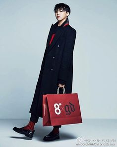 [8 X G-Dragon] Double Long Coat - Black_ G-Dragon GD Collaboration