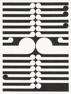 'Tamaki II' - Gordon Walters National Gallery of Victoria, Melbourne Abstract Sculpture, Wood Sculpture, Bronze Sculpture, Maori Symbols, Maori Patterns, Maori Designs, New Zealand Art, Nz Art, Maori Art