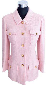Chanel Boutique Gripoix Pink Blazer Jacket 96a