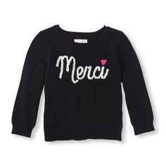 The Childrens Place - A pretty sweater with a fun touch that your baby will love!