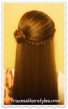 Hairstyles For Girls - Princess Hairstyles: Flower Girl Hairstyles Braided Hairstyles Updo, Grad Hairstyles, Princess Hairstyles, Flower Girl Hairstyles, Little Girl Hairstyles, Short Hairstyles For Women, Straight Hairstyles, Wedding Hairstyles, Trendy Hairstyles