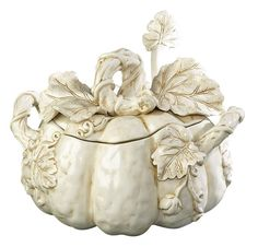 White Pumpkin Soup Tureen - gorgeous