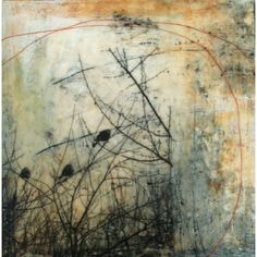 Painting I made during the workshop to demonstrate transfers and glazes on #encaustic | Flickr - Photo Sharing!