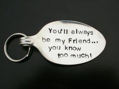 Looking for a personalized gift to give your friend this holiday? Check out this cute keyring. #gift #friend