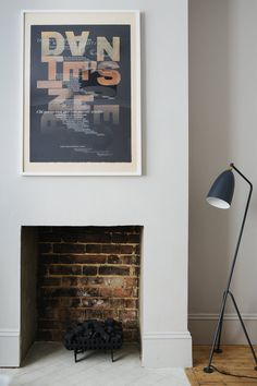 Farrow & Ball Cornforth White walls with Alan Kitching print (from the home of Aerende founder Emily Mathieson).