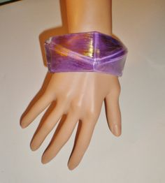 Vintage Lucite Bracelet Bangle Cuff Color Of The by BagsnBling