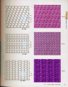 crochet motif from Crochet tecnicas puntos graficos Crochet Stitches Chart, Crochet Motifs, Crochet Diagram, Tunisian Crochet, Crochet Granny, Knitting Stitches, Crochet Doilies, Easy Crochet, Crochet Lace