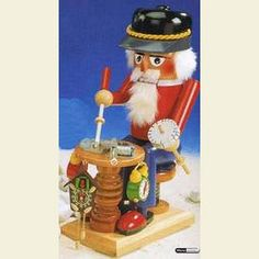Nutcracker Clockmaker with music  -  40cm / 16 inch