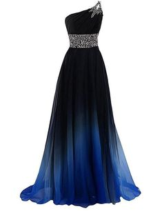New Arrival One Shoulder Beaded Long Prom Dress Custom Made Women . - New Arrival One Shoulder Beaded Long Prom Dress Custom Made Women Party Dresses Custom Bridesmaid P - Chiffon Evening Dresses, Formal Evening Dresses, Ball Dresses, Evening Gowns, Ball Gowns, Evening Party, Dress Formal, Formal Prom, Formal Gowns