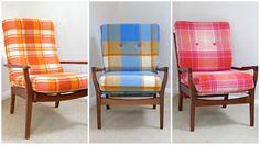 Retro blanket armchairs