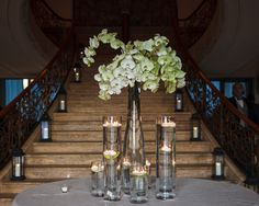 One of our elegant arrangements with Phalaenopsis Orchids #FlowerStationNj