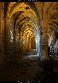 Dungeon of Castle of Chillon in Montreux, Switzerland.