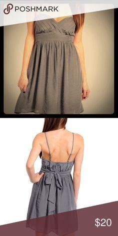 Charcoal chiffon dress Shell- 70% rayon, 30% polyester, Lining- 100% polyester, fully lined charcoal dress Dresses