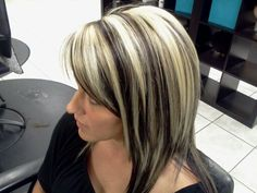 Platinum highlights and dark brown lowlites