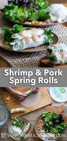 Try our quick and easy Shrimp Pork Spring Rolls, Shrimp Spring Rolls, Summer Rolls, Fun Easy Recipes, Delicious Dinner Recipes, Asian Recipes, Vietnamese Fresh Spring Rolls, Appetizers For A Crowd, Tailgating Recipes