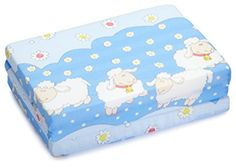 Colchón plegable para cuna de bebé con ovejas