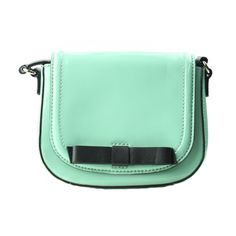 """This adorable new Kate Spade purse is made of patent leather and features a pretty ballerina mint color. Comes with a 23"""" adjustable black shoulder strap. Purse measures 7"""" W x 6"""" H."""