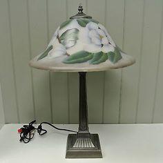 Lamps Lamps Friendly Kaldun & Bogle Glass Magnolia Table Lamp