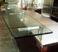 bracket idea for extending granite bar in kitchen