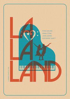 La La Land (2016) ~ Minimal Movie Poster by Matt Needle #amusementphile