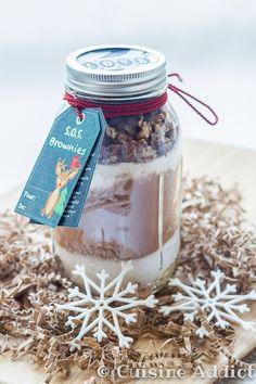 Un mix pour brownies à offrir aux plus gourmands!
