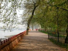 Thames Path at Battersea Park. I've walked this at sunset - peace and beauty.