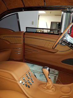 55 belair custom upholstery by Larry Mascari trickstitchcoachworks Custom Car Interior, Car Interior Design, Truck Interior, Car Interior Upholstery, Automotive Upholstery, 1957 Chevrolet, Car Interiors, Chevy Trucks, Custom Items