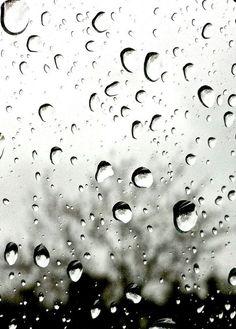 Raindrops 5x7 Black and White Photography Print