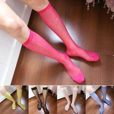6 Pairs 40 Denier Ladies Ankle Sheer Socks Heart Cuff Pop Socks Highs 3