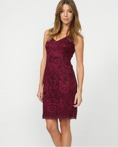 Embroidered Cocktail Dress at Le Chateau- Great dress to have on hand for weddings or formal dinners Costume, All Things Beauty, Wedding Inspiration, Wedding Ideas, Rustic Wedding, Winter Outfits, Style Me, Dress Up, Cocktails