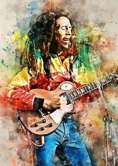 Bob Marley Painting, Bob Marley Art, Print Artist, Artist Art, Ronnie Wood Art, Bob Marley Pictures, Nesta Marley, Punk, Cool Artwork