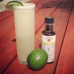 Pineapple Lime Cooler using Lucero Pineapple White Balsamic Vinegar.  YUM