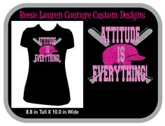 PERSONALIZE Your SOFTBALL/Baseball - Attitude is Everything! - T-shirts by ReeseLaurenCouture on Etsy