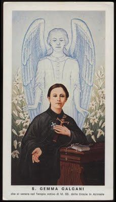 St Gemma Galgani: Loving God with all your heart -Words of St Gemma Catholic Saints, Patron Saints, Roman Catholic, St Gemma Galgani, Trinidad, Vintage Holy Cards, St Therese, Prayer Cards, Blessed Mother