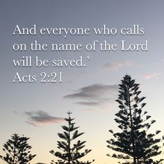 And it shall come to pass, that whosoever shall call on the name of the Lord shall be saved. Acts 2:21