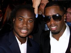Devin Gibson director with P Diddy attend members only nightclub in NYC.  The attire: Aviator Shades + Tailored Black Suit and crisp white button up, dont forget the earring.