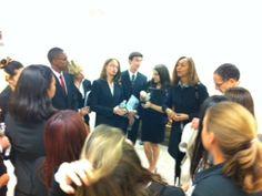 Hollywood High School Mock Trial Team prepare with Coach Paul Landau and Attorney Coach Ms. Crenshaw.
