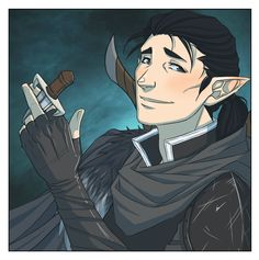 New Critical Role art by Kit Buss: Vax'ildan the half-elven rogue